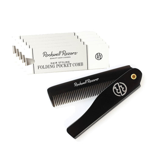 Rockwell Razors Hair Styling Folding Pocket Comb (Case Pack of 6)