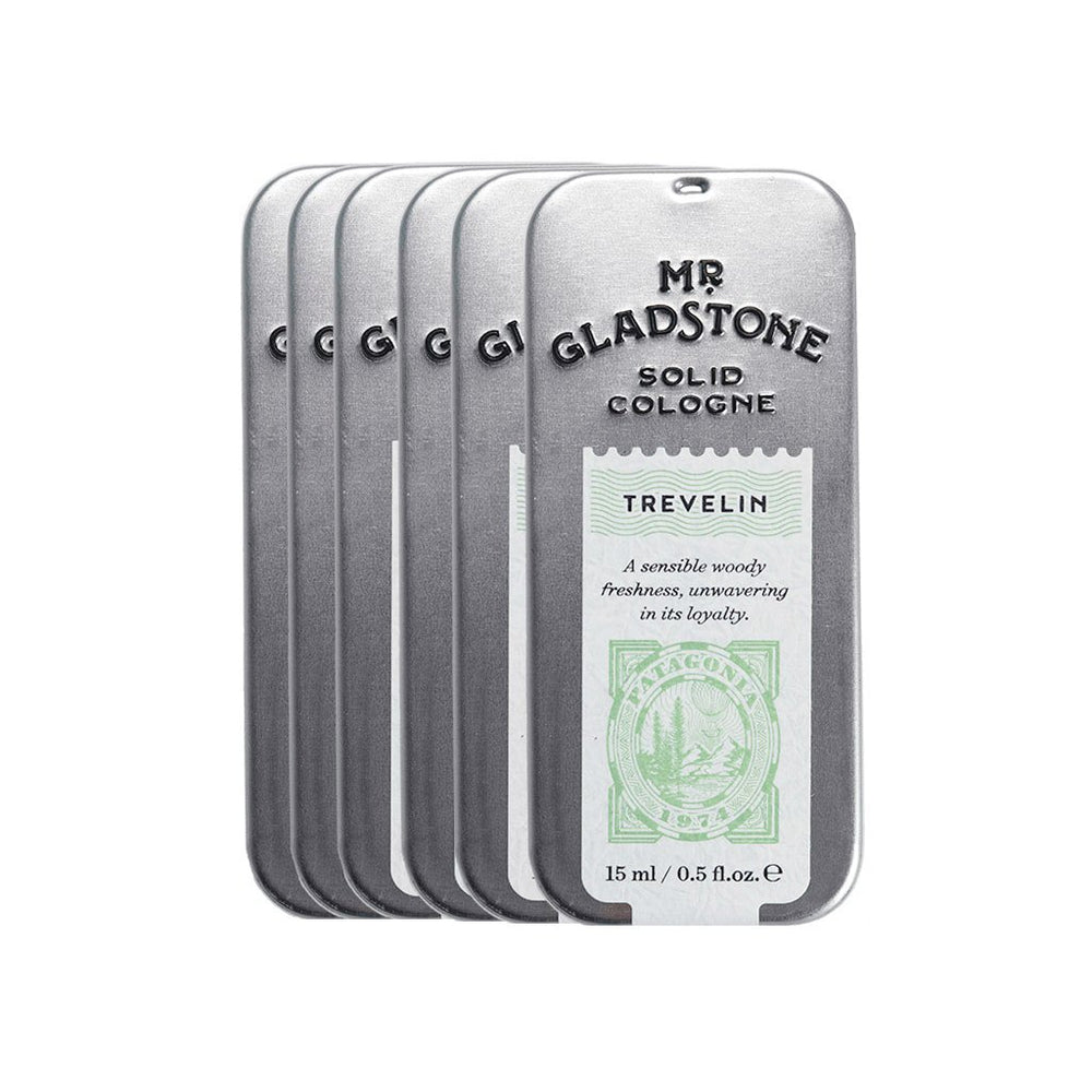 Mr. Gladstone Trevelin Solid Cologne - Fine Fragrance Reminiscent of 1974 Patagonia (Case Pack of 6)