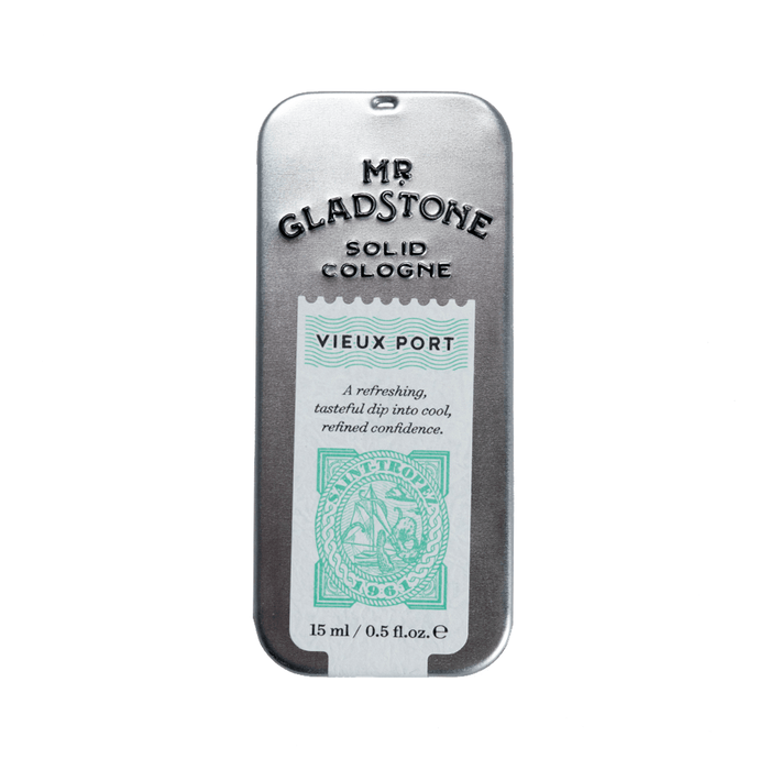 Mr. Gladstone Vieux Port Solid Cologne - Fine Fragrance Reminiscent of 1961 Saint-Tropez