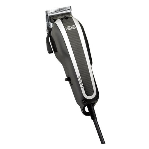 The Wahl Icon Clipper is excellent for heavy-duty cutting, tapering, fades, and blends. The motor is long-lasting and powerful. It has the thumb lever function which allows you to taper and texture without changing blades. It also comes with a modern lid design and chrome plated blades.