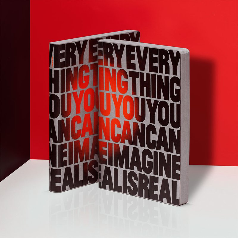 GRAPHIC THERMO L EVERYTHING YOU CAN IMAGINE IS REAL THERMO NOTEBOOK