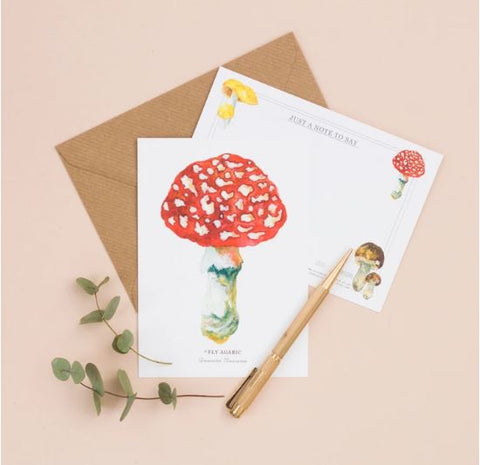 Mushroom and Toadstool Notelet Pack