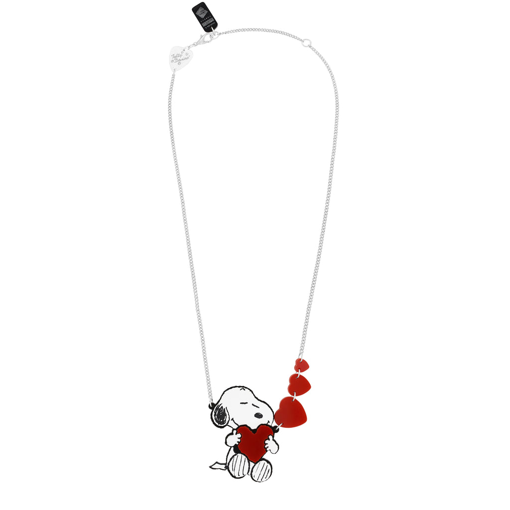 snoopy love heart necklace by tatty devine somerset house shop