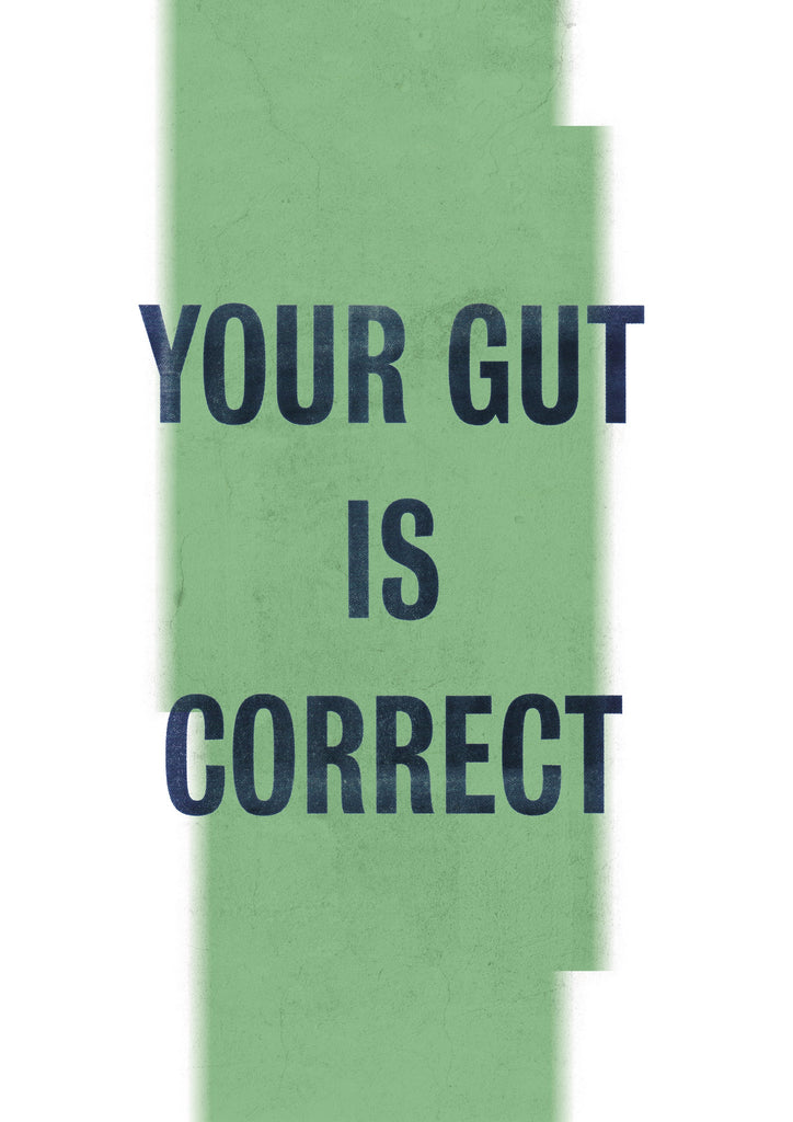 Phoebe Davies Flyposter Print - YOUR GUT IS CORRECT