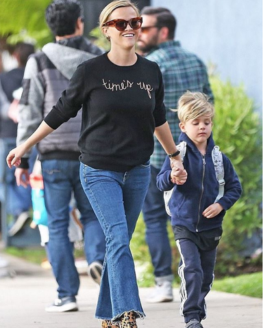 Lingua Franca Reese Witherspoon in Time's Up sweater