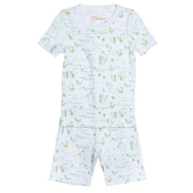 Short Sleeve Alligators Summer Pyjama Set