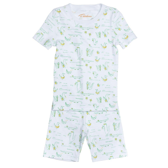 Short Sleeve Alligators Summer PJs