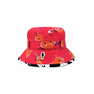 Pink Hippo Bucket Hat