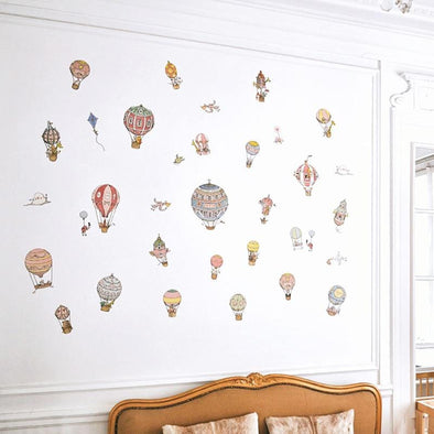 Hot Air Balloons Replaceable Wall Stickers