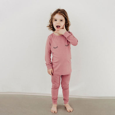 Classic Thermal Pajama - Sleepy Eyes in Sugarplum