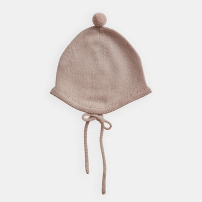 Cashmere Bonnet with Pompom Detail