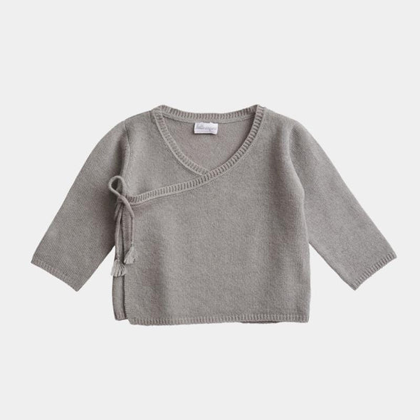 Merino and Cashmere Cloud Grey Baby Set