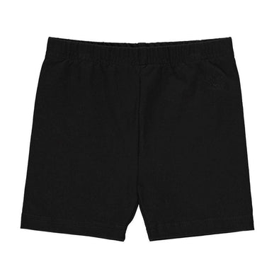 Black basic summer cotton shorts