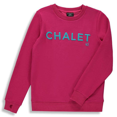 Chalet Pink Children's Crew Neck Sweater