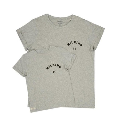 Adult Grey Milking It Tee