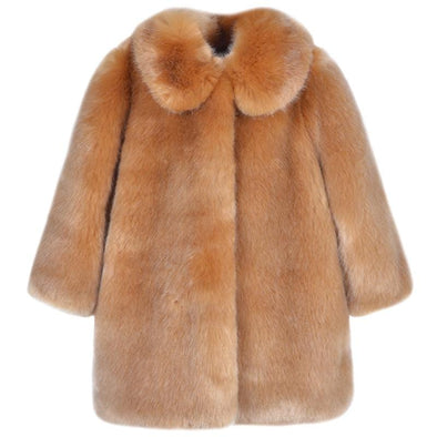 Toffee Faux Fur Coat
