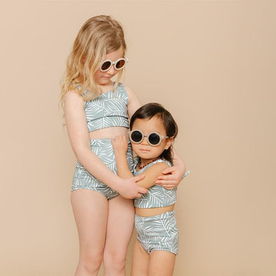 Girls High Waisted Two-Piece Swimsuit Meadow