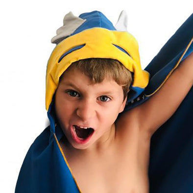 Autonomy Hooded Towel Superhero Blue