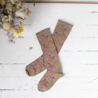 Chichi Beige Knee Socks