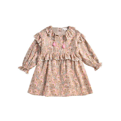 Cotton Folk Flowers Eforie Dress