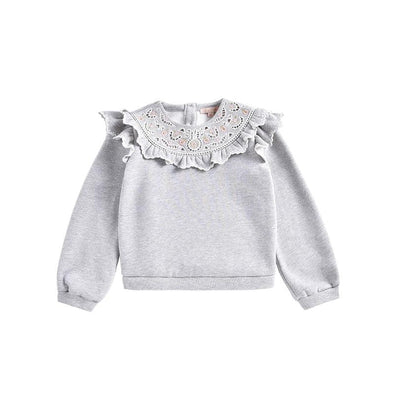 Ludmila Heather Grey Fleece Sweatshirt