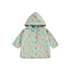 Manoukia Raincoat Turquoise Flowers