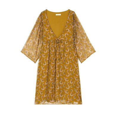 Otti Dress Cinnamon Flowers