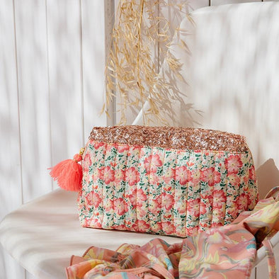 Teiki Pouch Pink Meadow