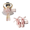 Powder Pink Ballerina Alligator Clip Set