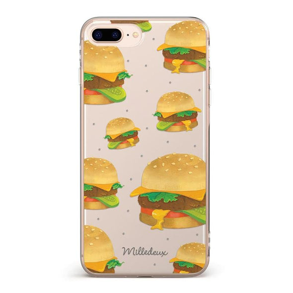 Burger Pattern iPhone Cover