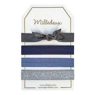Metal Blue Hairties Set