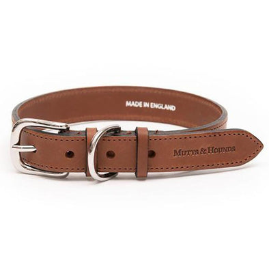 Tan Full Leather Dog Collar