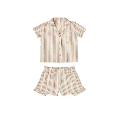 Bedtime Pyjama Set Multi-Stripe