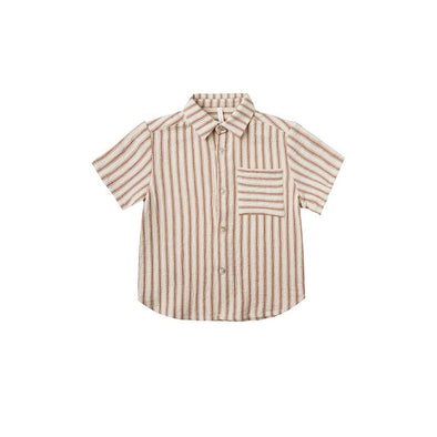 Collared Shirt Natural Stripe