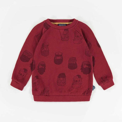 Baby Boy Red Patterned Sweater