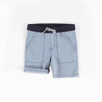 Boy Denim Striped Shorts