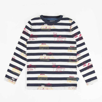 Striped Patterned Long-Sleeve T-Shirt