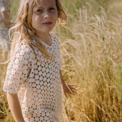 Hortensia Cotton Crochet Summer Dress for Girls