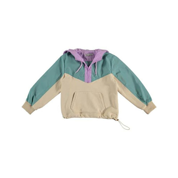 Kids Organic Cotton Lotus Hoodie from Recycled Polyester with Kangaroo Pocket