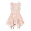 Perfect Summer 100% Cotton Pink Florentine Dress with Ruffles