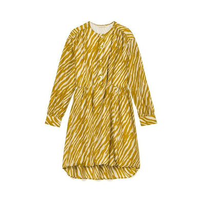 Wara Dress Cinnamon Brush Stripes