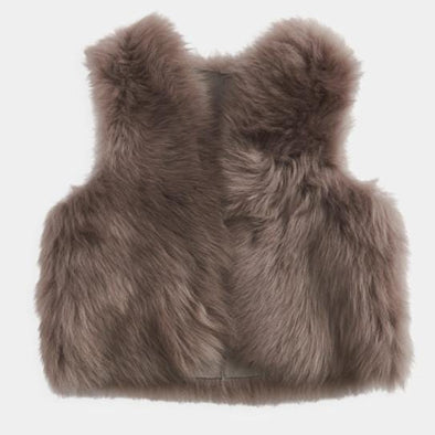 Kids and Toddlers Mink Shearling Gilet