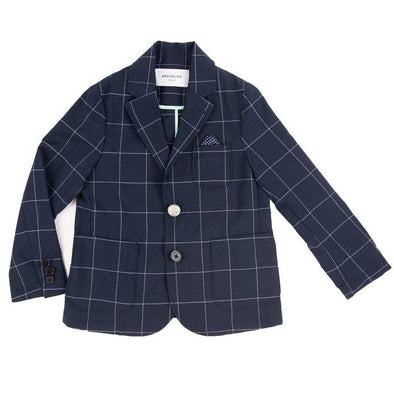 Perfect Valentine's Navy Check Blazer