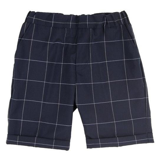 Navy Check Dress Shorts