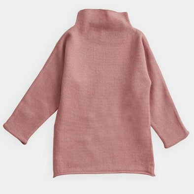 Pink Funnel Neck Dress for Toddlers and Kids