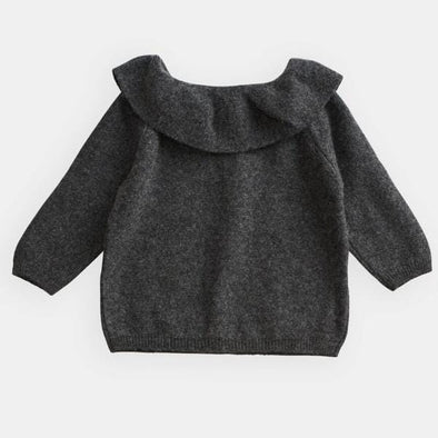 Kids and Toddlers Ruffle Collar Sweater