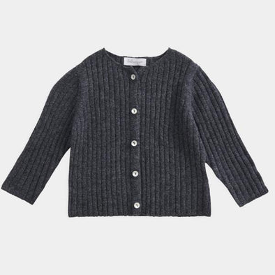 Toddler and Kids Merino/Cashmere Rib Cardigan