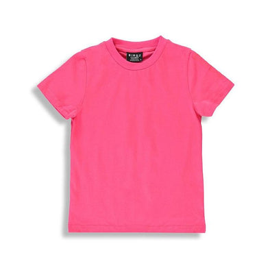 Bright pink basic t-shirt for girls