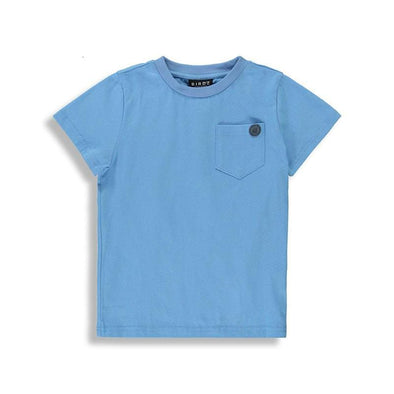 Basic blue t-shirt for boys