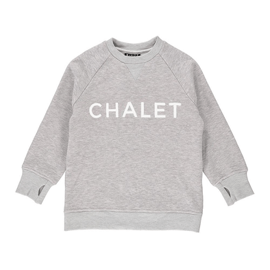 Chalet Children's Unisex Crew Neck Sweater Grey